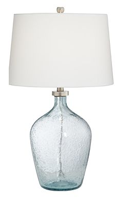 Pacific Coast Clear Blue Bubble Glass Table Lamp Home Macy S