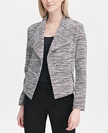 Calvin Klein Tweed Flyaway Jacket