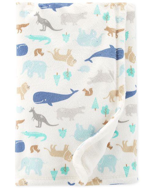 Carter's Baby Boys Animal-Print Plush Blanket