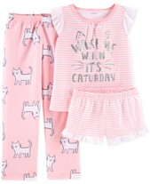 Carter s Little Girls 3-Pc. Cat Graphic Pajamas Sets b75c26774
