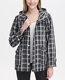 Calvin Klein Hooded Plaid Jacket