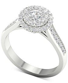 Diamond (1 ct. t.w.) Halo Ring in 14k White Gold