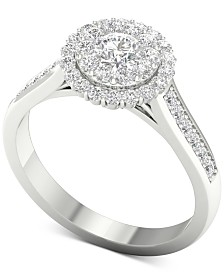 Diamond (1 ct. t.w.) Halo Ring in 14k White Gold