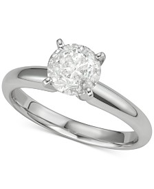 Diamond Solitaire Engagement Ring (1-1/4 ct. t.w.) in 14k White Gold