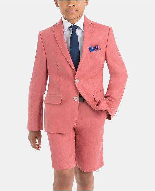 84a73f9c1c28a ... Lauren Ralph Lauren Little & Big Boys Classic Linen Suit Jacket &  Shorts Separates ...