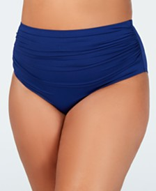 Lauren Ralph Lauren Plus Size High-Waist Swim Bottoms