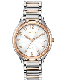 Eco-Drive Women's LTR Two-Tone Stainless Steel Bracelet Watch 35mm
