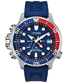 Citizen Eco-Drive Men's Promaster Aqualand Blue Silicone Strap Watch 46mm