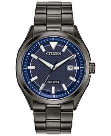 Citizen Drive From Citizen Eco-Drive Men's WDR Black Stainless Steel Bracelet Watch 41mm