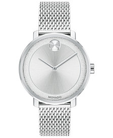 Movado Women's Swiss BOLD Stainless Steel Mesh Bracelet Watch 34mm