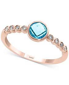 EFFY® Garnet (3/8 ct. t.w.) & Diamond Accent Ring in 14k Gold (Also in Blue Topaz in 14k Gold)