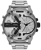 f7edbfddd9d Diesel Men s Chronograph Mr. Daddy 2.0 Stainless Steel Bracelet Watch 57mm
