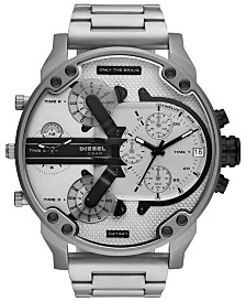 Diesel Men's Chronograph Mr. Daddy 2.0 Stainless Steel Bracelet Watch 57mm