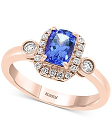 EFFY® Tanzanite (3/4 ct. t.w.) and Diamond (1/4 ct. t.w.) Ring in 14k Rose Gold