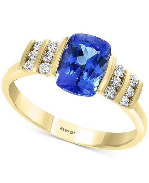 EFFY Collection EFFY® Tanzanite (1-3/8 ct. t.w.) & Diamond (1/6 ct. t.w.) Ring in 14k Gold