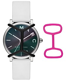 Marc Jacobs Women's Classic White Silicone Strap Watch 36mm