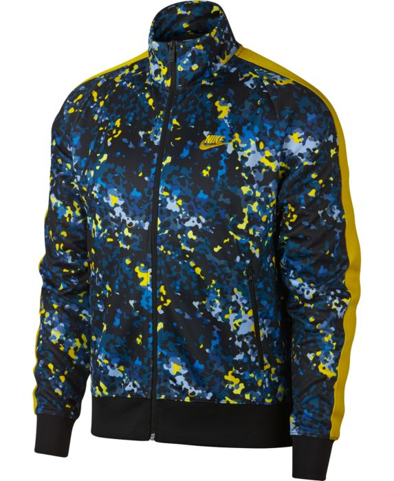 Nike Mens Sportswear Printed Track Jacket, Blue, Size: XL