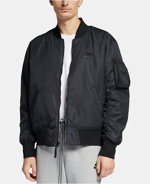 5b50d88b59af28 Nike Men's Reversible Bomber Jacket & Reviews - Coats & Jackets ...