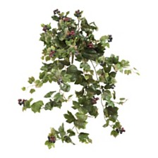 """Nearly Natural 24"""" Grape Leaf Hanging Artificial Plant, Set of 2"""