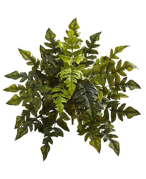 """Nearly Natural 24"""" Holly Fern Artificial Plant, Set of 2"""