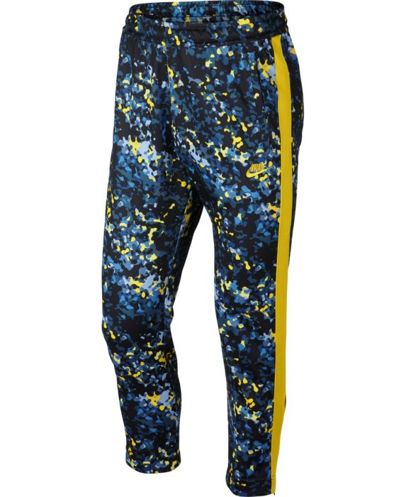 Nike Mens Sportswear Printed Track Pants, Blue, Size: M