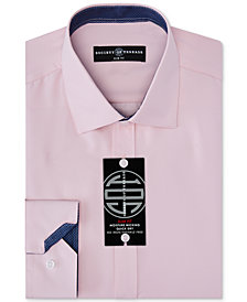 Society of Threads Men's Slim-Fit Non-Iron Performance Four-Way Stretch Solid Dress Shirt