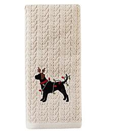 Reindeer Dog 2-Pc. Hand Towel Set