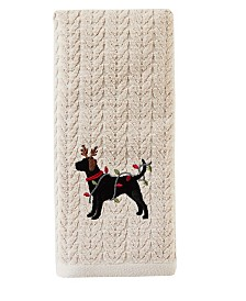Reindeer Dog 2-Pc. Hand Towel Set