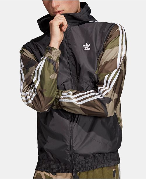193fa4a8f46e58 ... adidas Men's Originals ClimaStorm® Colorblocked Camo Windbreaker ...