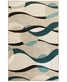 "KAS Eternity Orbit 1093 Ivory/Blue 3'3"" x 5'3"" Area Rug"