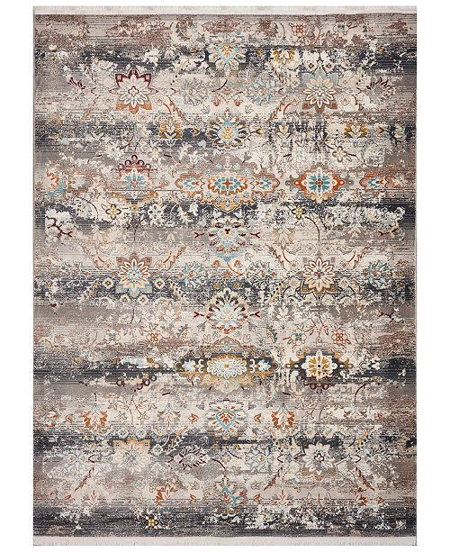 "Kas Papillon Tunisia 4522 Grey 2'7"" x 9'10"" Runner Area Rug"