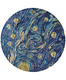KAS Whisper Twilight 3003 Blue 8' Round Area Rug