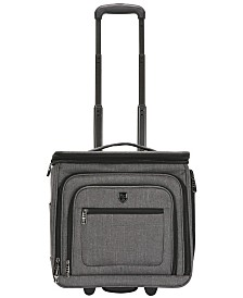 "Traveler's Club 16"" Stafford Top Expandable USB Port Underseat Carry-On Luggage"