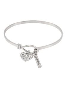 BCBGeneration Pave Heart Charm Bracelet