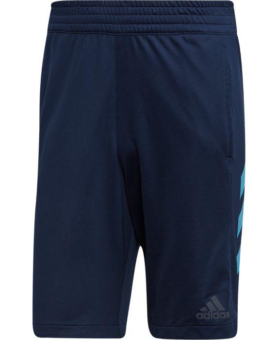 adidas Mens Basketball Shorts, Blue, Size: 2X