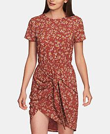 1.STATE Heritage Bouquet Tie-Waist Dress