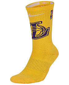 Nike Men's Los Angeles Lakers Elite Team Crew Socks