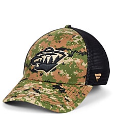 Authentic NHL Headwear Minnesota Wild Military Appreciation Speed Flex Stretch Fitted Cap