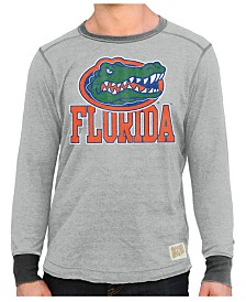 Retro Brand Men's Florida Gators Triblend Fleece Crew Sweatshirt