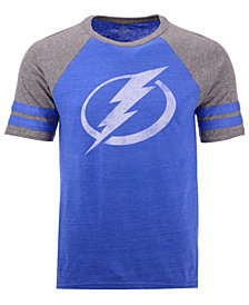 Majestic Men's Tampa Bay Lightning Throwback Short Sleeve Raglan T-Shirt