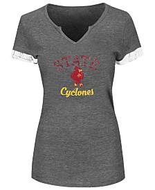 Profile Women's Plus Iowa State Cyclones Sleeve Stripe T-Shirt