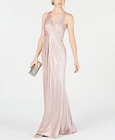 Adrianna Papell Metallic Mermaid Gown