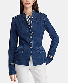 Lauren Ralph Lauren Petite Military-Inspired Officer Jacket