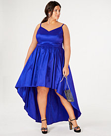 B Darlin Trendy Plus Size High-Low Dress