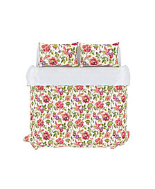 Tess Duvet Cover Set, Full/Queen, Orchid