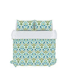 Sasha Duvet Cover Set, Full/Queen, Seamoss