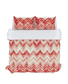 Germain Duvet Cover Set, Full/Queen, Coral Haze