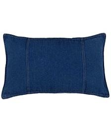 American Denim Oblong Pillow