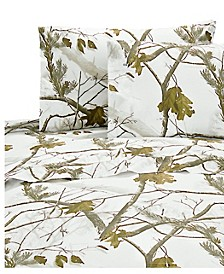 Realtree AP Snow Twin Sheet Set