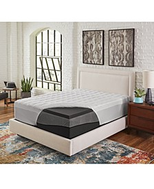 "3.5"" Comfort Loft Ebonite Full Memory Foam with Fiber Topper Cover"